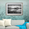 Derryclare Lough framed teal wall