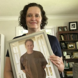 Nancy W Hendrickson with Barry Hendrickson framed picture